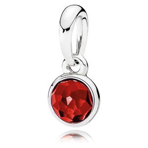 7c676231d Retired Pandora July Droplet Pendant :: Birthstone Charms 390396SRU ::  Authorized Online Retailer