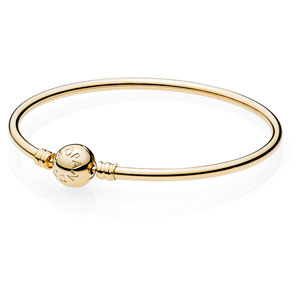 14K Gold Bangle with Pandora Clasp