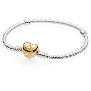 Sterling Bracelet with Pandora Shine ™ Heart Clasp