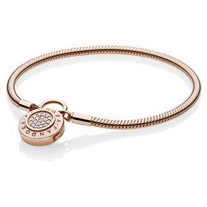 1d13e204f Pandora Pandora Rose™ Signature Padlock Bracelet :: Pandora Bracelets  587757CZ :: Authorized Online Retailer