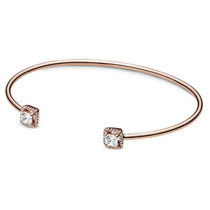 Pandora Rose ™ Square Sparkle Open Bangle