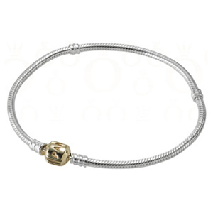 Sterling Bracelet with 14K Gold Clasp