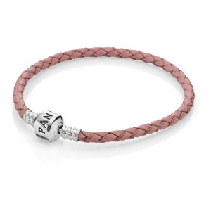 Single Pink Leather Bracelet