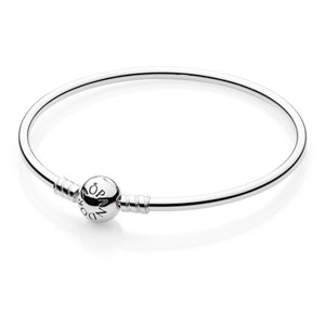 Sterling Bangle Bracelet with Pandora Clasp