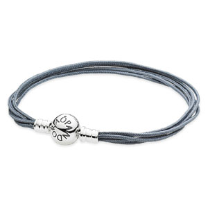 Grey Multi Strand Bracelet