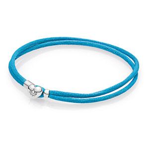 bf9ae9e460904 Turquoise Fabric Cord Bracelet