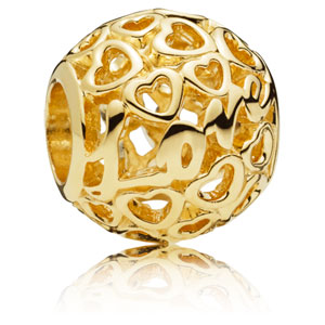 14K Gold Glowing with Love Charm