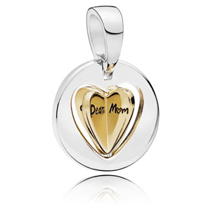 Pandora Shine ™ Mom's Golden Heart Charm