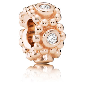 Pandora Rose Her Majesty Spacer with Clear Zirconia