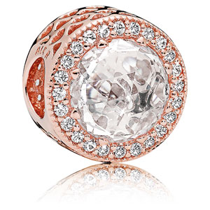 Pandora Rose ™ Radiant Hearts Charm Clear Zirconia