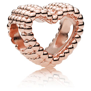 Pandora Rose ™ Beaded Heart Charm