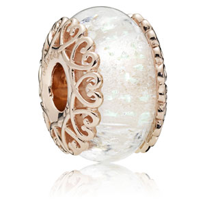 Pandora Rose ™ Iridescent White Murano Glass Charm