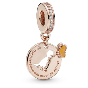 Pandora Rose ™ Dinosaur and Butterfly Friendship Dangle
