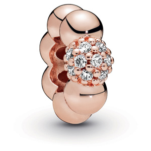 Pandora Rose ™ Polished and Pave Spacer
