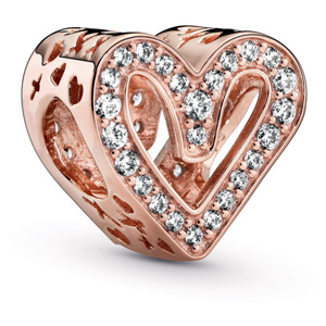 Pandora Rose™ Sparkling Freehand Heart Charm