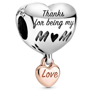 Pandora Rose ™ Love You Mom Heart Charm
