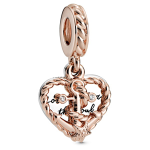 Pandora Rose ™ Heart and Love Anchor Dangle