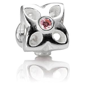 62e1b366d Retired Pandora Four Petal Flower Pink CZ Charm :: Gems with Sterling  Silver 790260PCZ :: Authorized Online Retailer