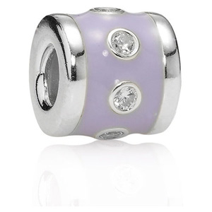 Lavender Promise with Zirconia Charm