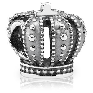 Silver Royal Crown Charm