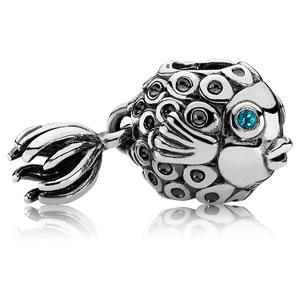 Retired PANDORA Splish-Splash Fish Charm    Gems with Sterling Silver  791108TPP    Authorized Online Retailer 885ca225d63
