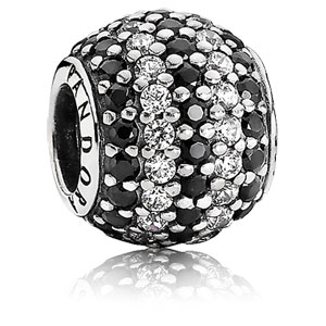 Retired PANDORA Black Nautical Pave Lights Charm    Gems with Sterling  Silver 791172NCK    Authorized Online Retailer be15905e1d9
