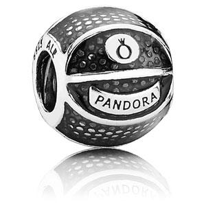 Retired PANDORA Basketball Charm    Enamel Charms 791201EN44    Authorized  Online Retailer 5c1b1f0f731