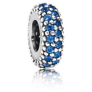 Inspiration Within Spacer with Blue Crystal