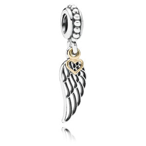 Love and Guidance Angel Wing Dangle Charm