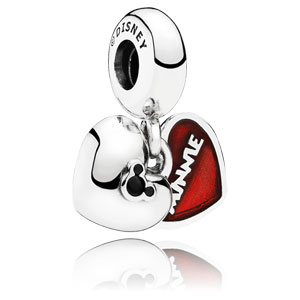 Disney Mickey and Minnie Heart Dangle