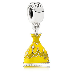 Disney Belle's Dark Yellow Dress Dangle
