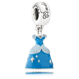 Disney Cinderella's Azure Blue Dress Dangle