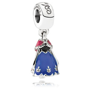 Disney Anna's Orchid Dress Dangle