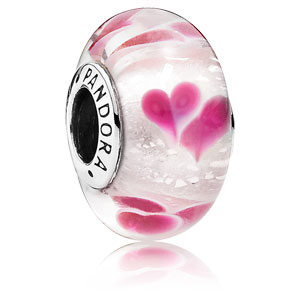 Wild Hearts Glass Charm