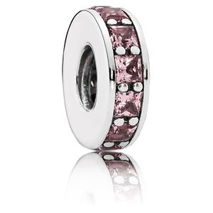 Eternity Spacer with Pink Blush Crystal
