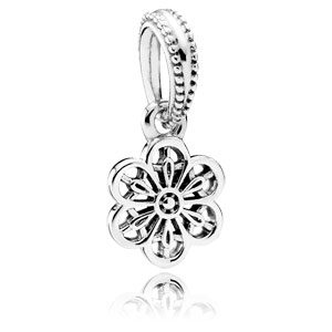 62ac24954 Retired Pandora Floral Daisy Lace Dangle :: Sterling Silver Charms 791835  :: Authorized Online Retailer