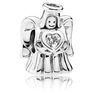 Angel of Love Charm with Clear Zirconia