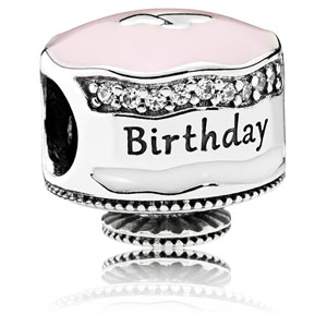 8f64df716 Retired Pandora Happy Birthday Cake Charm :: Enamel Charms 792061ENMX ::  Authorized Online Retailer