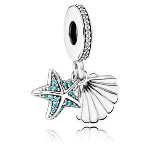 Tropical Starfish and Sea Shell Dangle