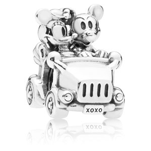 Disney Mickey and Minnie Vintage Car Charm