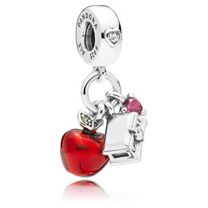 Disney Snow White Apple and Heart Dangle