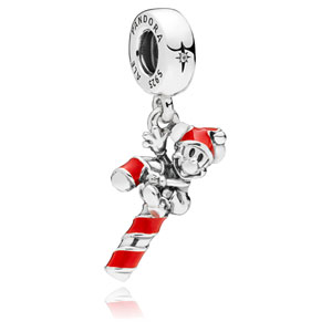 Disney Mickey Candy Cane Dangle