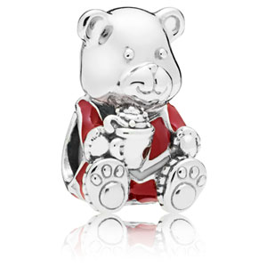 Christmas Teddy Bear Charm