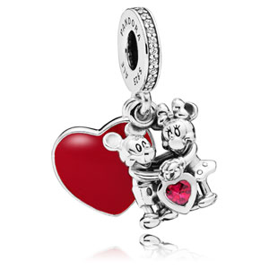 Disney Minnie and Mickey With Love Charm