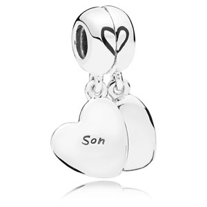 Mother and Son Love Split Dangle