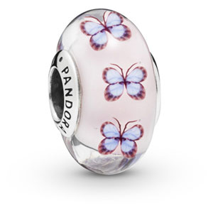 Butterfly Murano Glass Charm