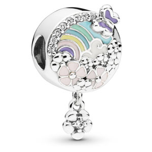 Flower Color Story Charm with Dangle