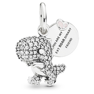 Pave Dinosaur Dangle