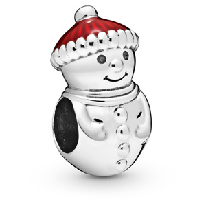 Snowman with Santa Hat Charm