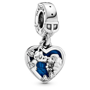 Disney Lady and the Tramp Heart Dangle